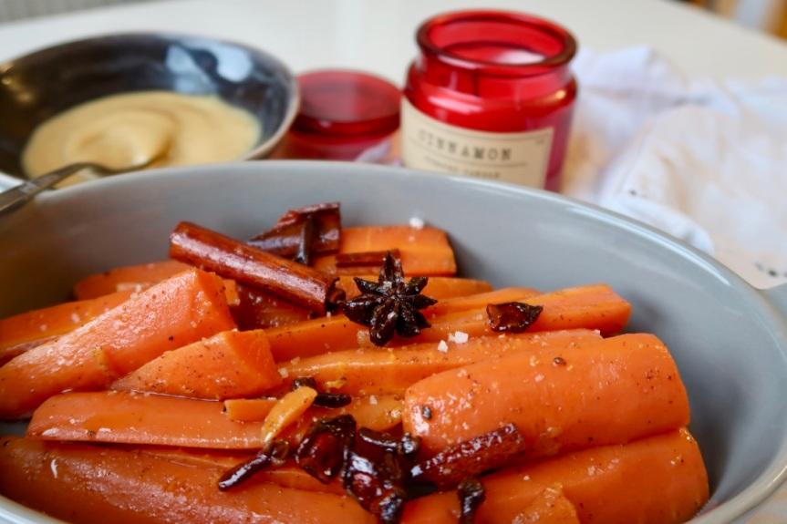 Korzenne świąteczne marchewki